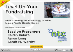 Level Up Your Online Fundraising - Understanding the Pschology of what makes People Donate