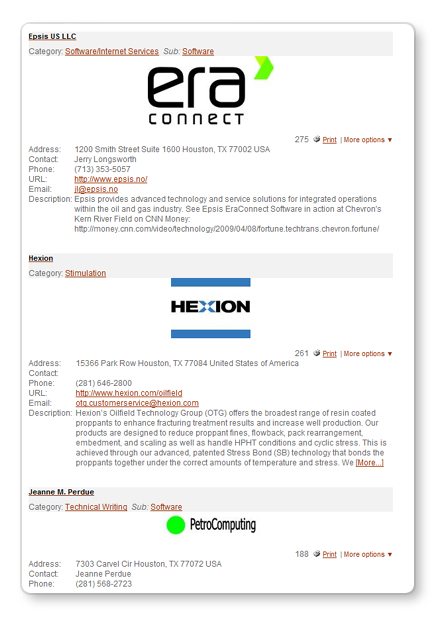 Tendenci Example Business Directory Listings