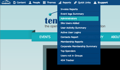 View list of Admins on a Tendenci Site