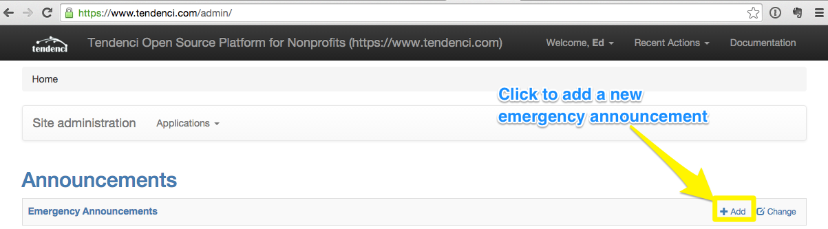 3emergency-announcement-adding-tendenci-site.png