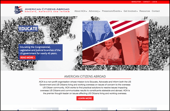 American Citizens Abroad Tendenci Website