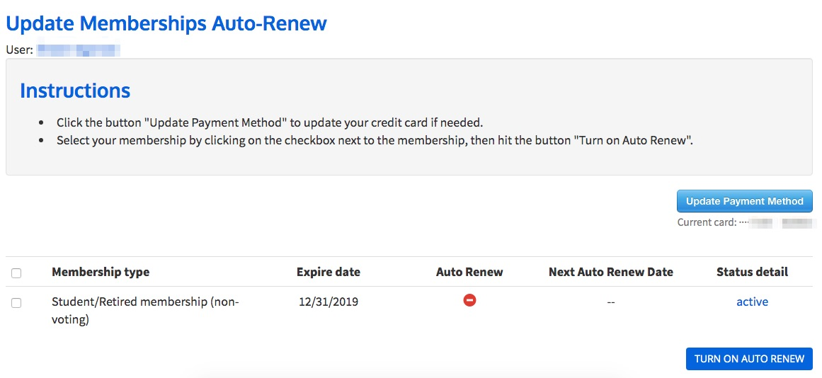 How do I update current members for auto-renewals? - Help Files