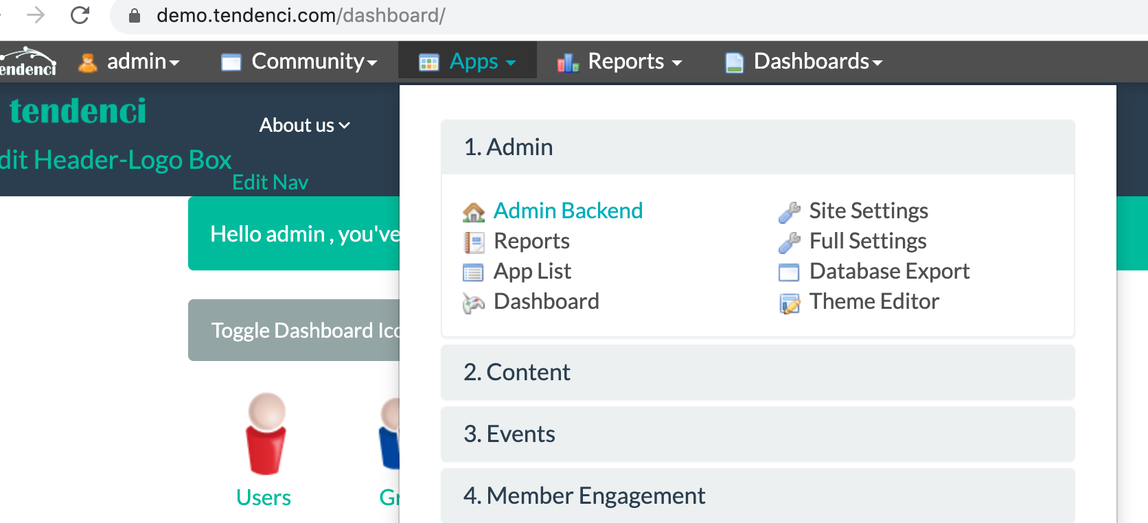 Navigate to your Admin Backend
