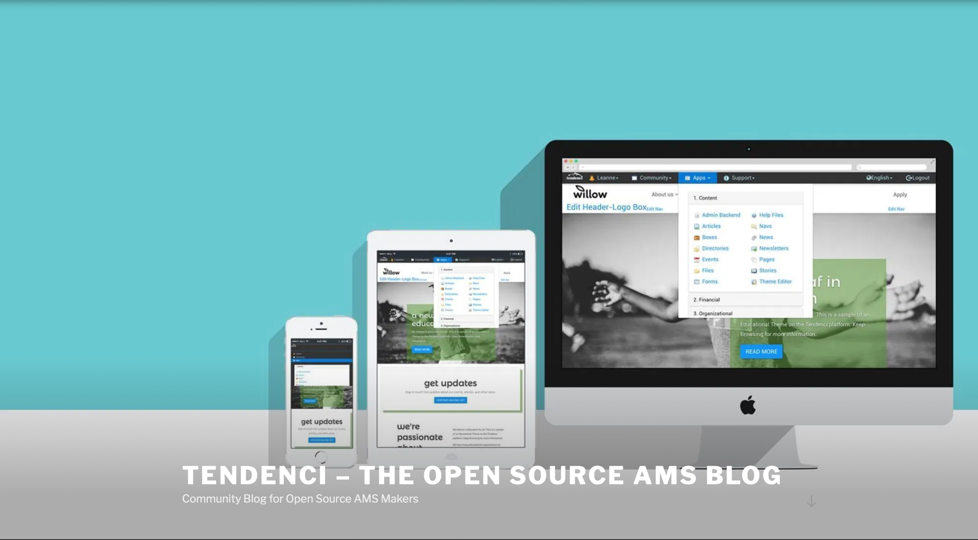 Screenshot of Tendenci WP Community Blog AMS Makers