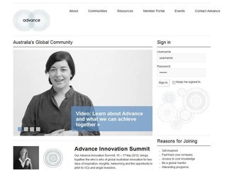 Advance - Australia's Global Community - Tendenci Website