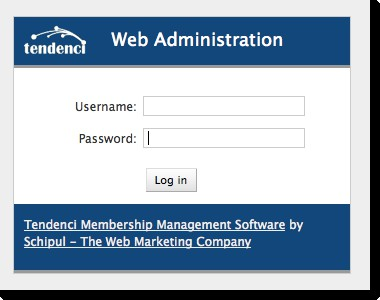 Tendenci Screenshot of the Admin Administration Login Form