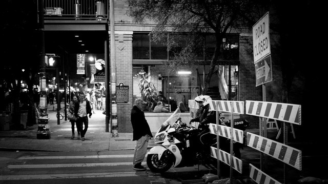 Sixth Street in Black and White