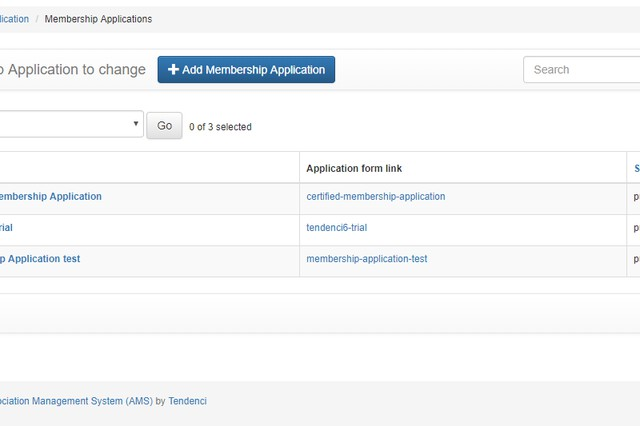 Add and edit membership applications - admin backend