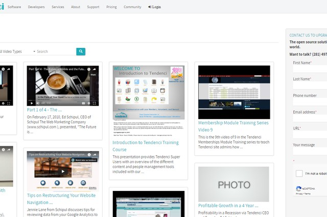 Responsive Tendenci Open Source  Videos Module Theme built for Non-Profits and Associations.