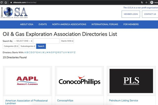 International Oil Scouts Association Directory