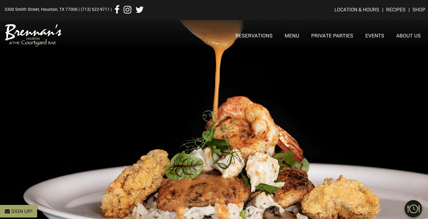 Brennan's of Houston Homepage