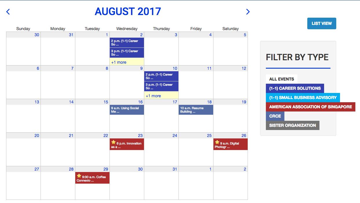 Web Calendar Software With Online Event Registration Tendenci