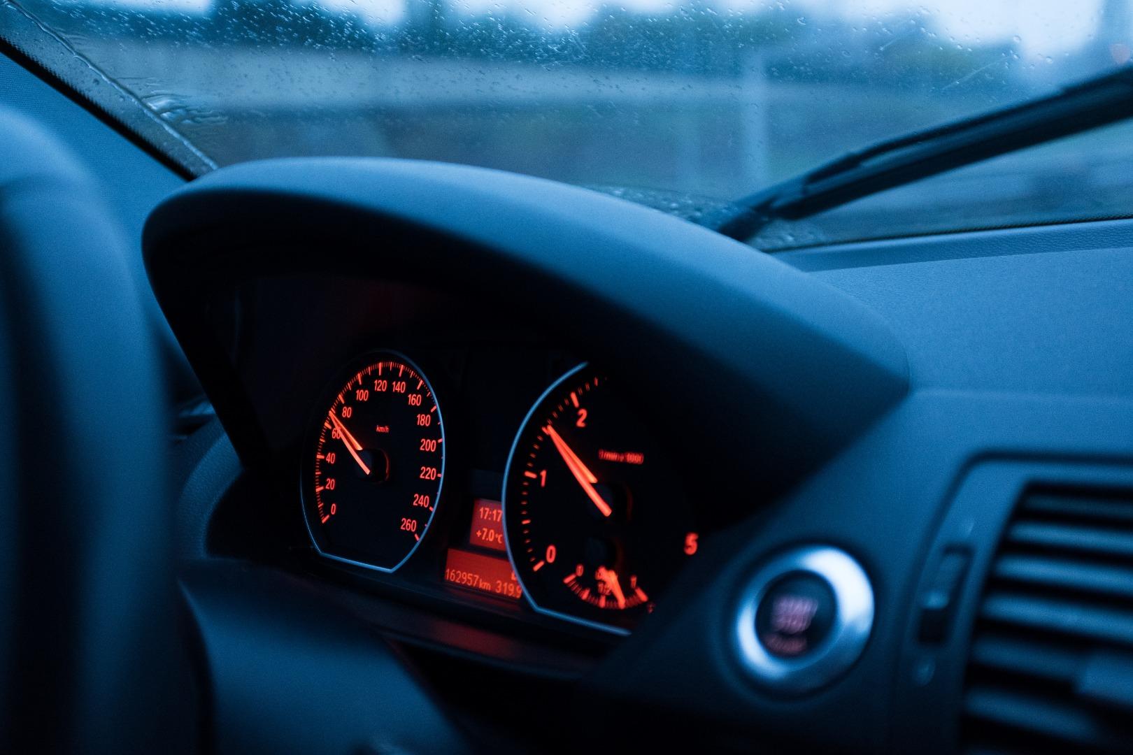 Screenshot of a car's dashboard