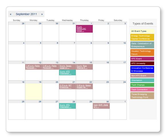 NHADACA NHTIAD Professional Development Calendar of