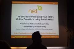 Netsquared Melbourne Presentation on Social Media Strategy and NonProfit Online Fundraising