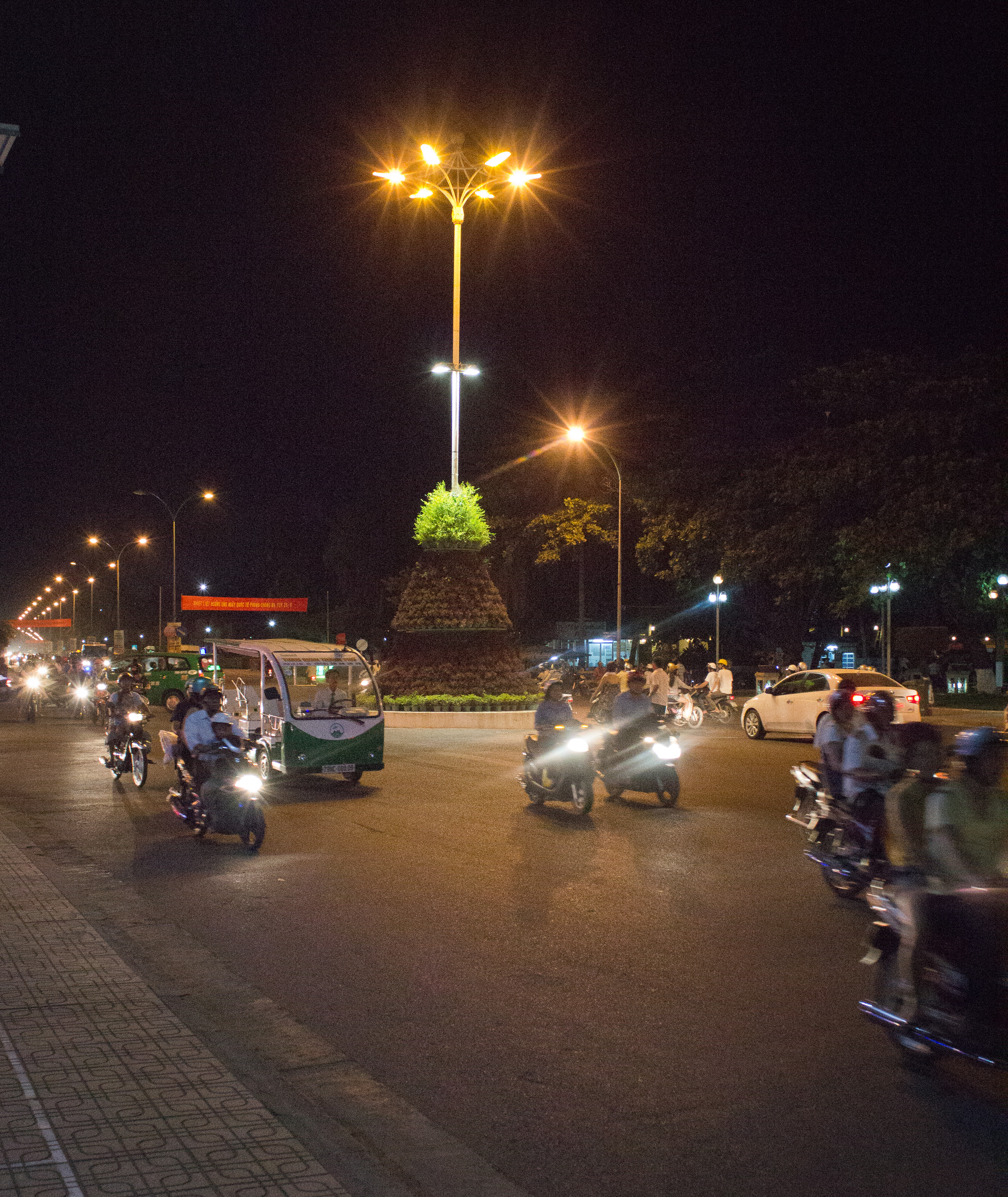 Motorbikes at Night