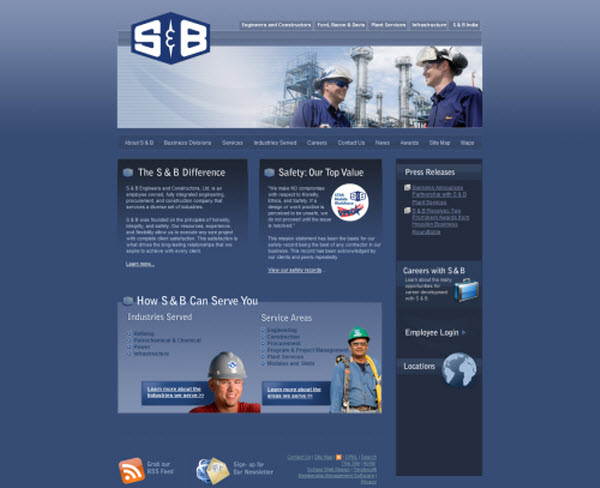S&B Engineer and Construction Tendenci Website Design