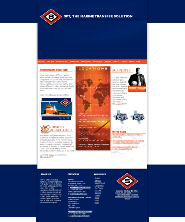 SPT Inc. Tendenci Oil and Gas Website Design