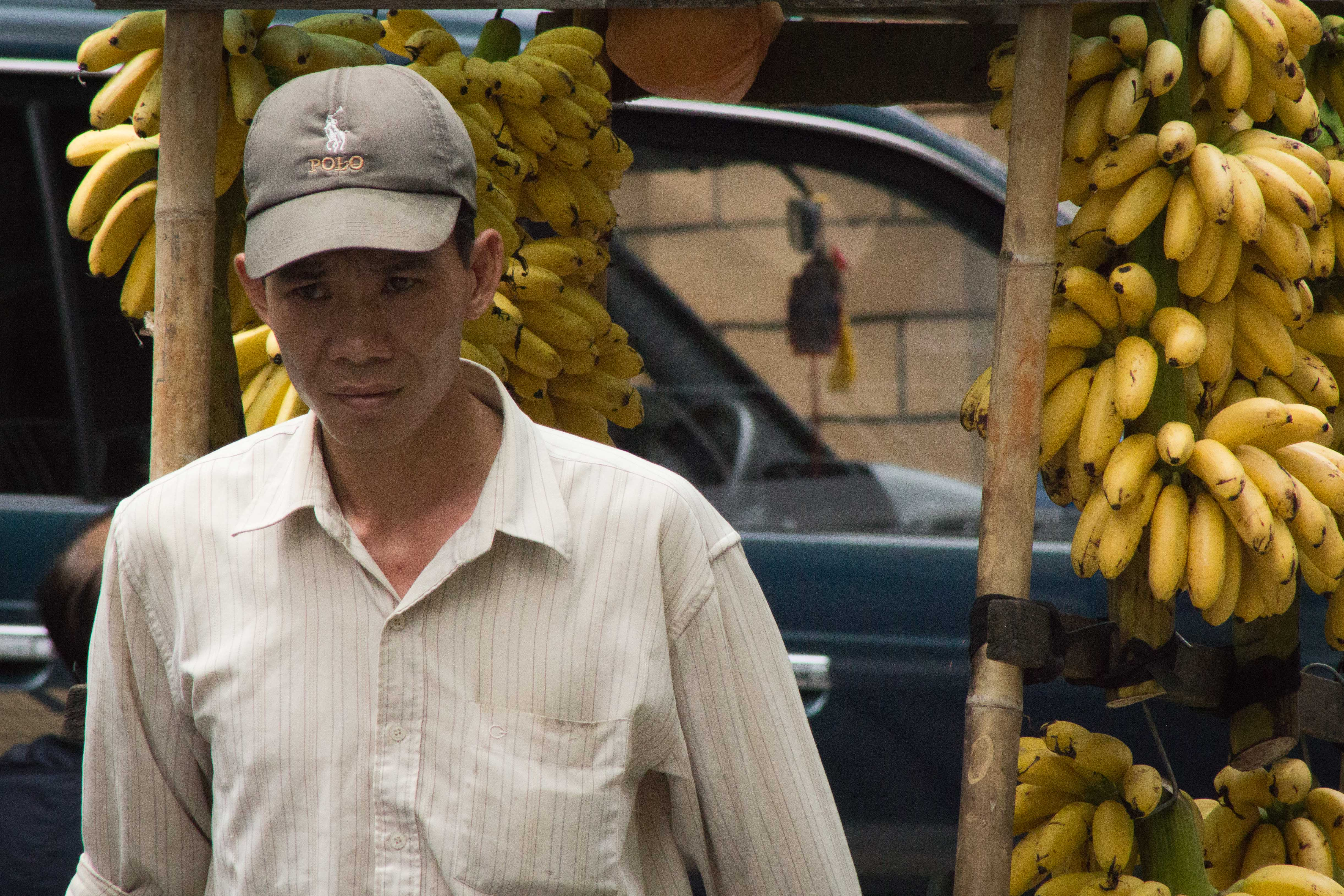 Man with Banana Cart