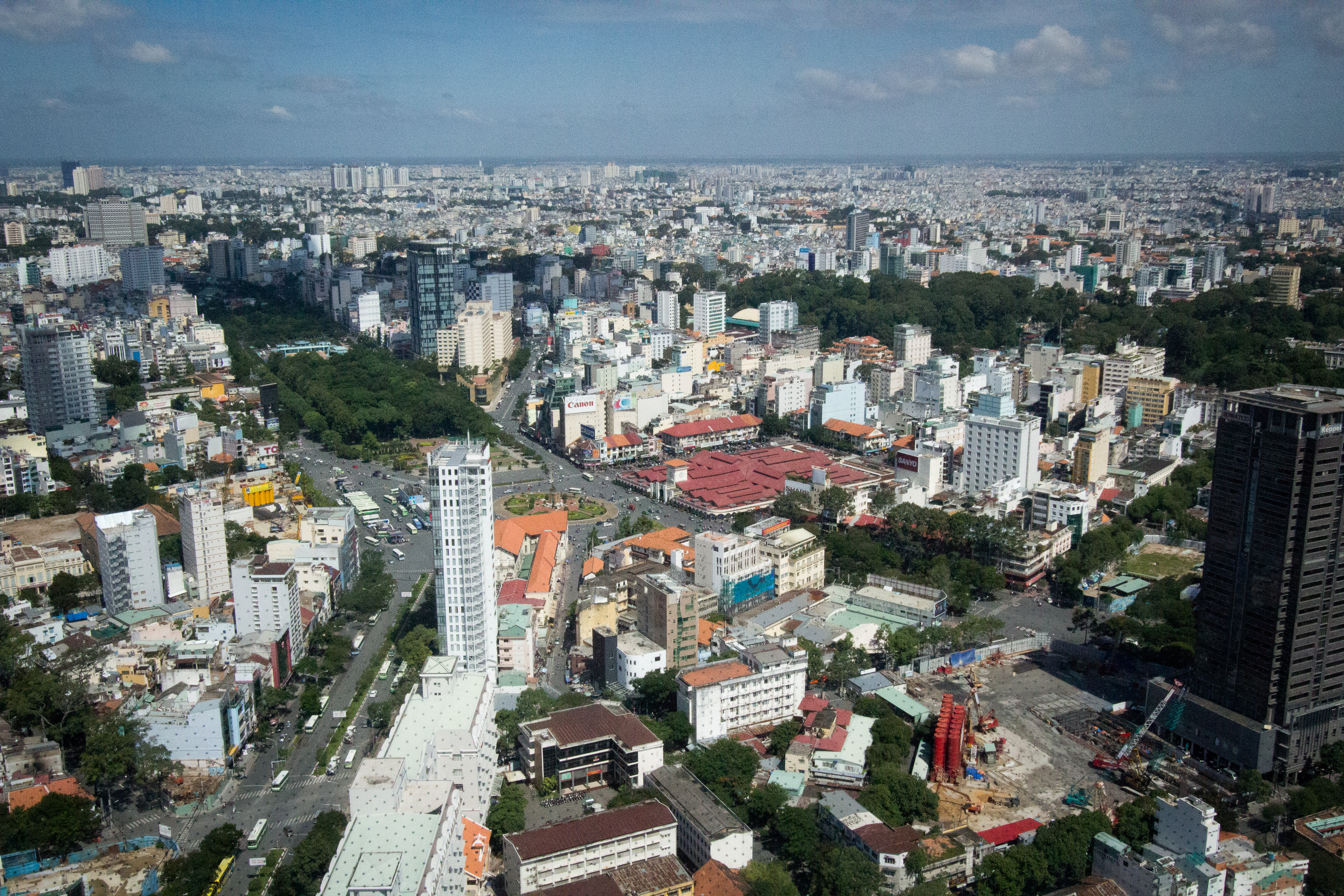 Saigon from the Skydeck View of City