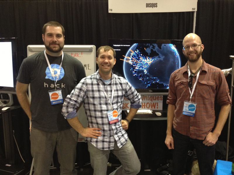 Disqus Team at PyCon 2013 in Santa Clara California