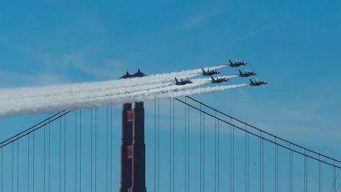 Blue Angels at Fleet Week in San Francisco