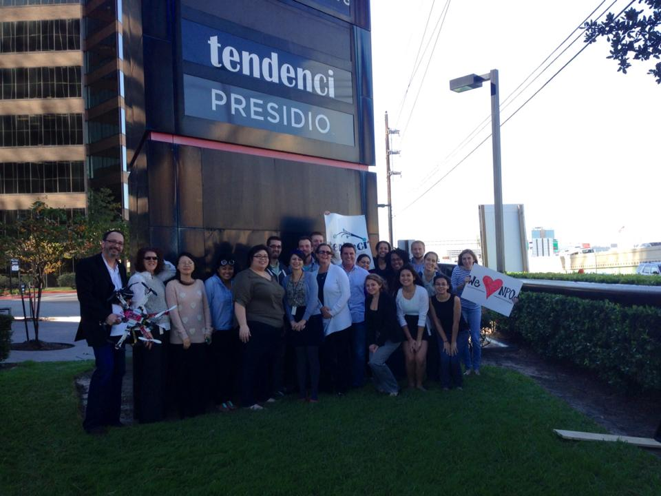 The Tendenci Team in Front of the New Sign