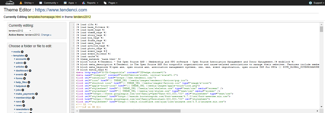 Screenshot of Theme Editor  Step Two
