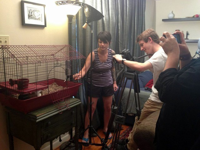 Behind the Scenes of Tendenci's Guinea Pig Ad - Getting the Shot