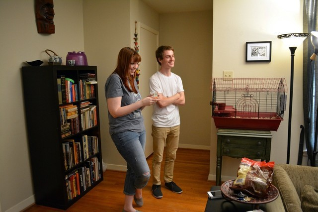 Behind the Scenes of Tendenci's Guinea Pig Ad - Chris and Caitlin