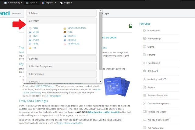 Screenshot Access the Content Apps Administration Tools from Top Bar Menu