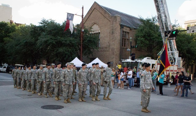 Welcome Home Parade for US Soldiers Returning from Iraq Downtown Houston